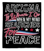 Arizona American Patriotic Memorial Day Fleece Blanket