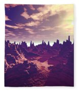 Arizona Canyon Sunshine Fleece Blanket