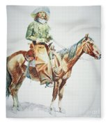 Arizona Cowboy, 1901 Fleece Blanket