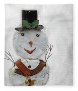 Arizona Snowman Fleece Blanket