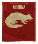 Arizona State Facts Minimalist Movie Poster Art Fleece Blanket