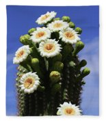 Arizona State Flower- The Saguaro Cactus Flower Fleece Blanket