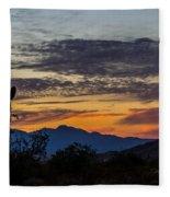 Arizona Sunset Fleece Blanket