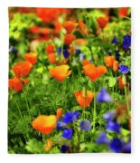 Arizona Wildflowers Fleece Blanket