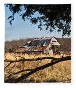 Arkansas Barn 1 Fleece Blanket