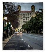 Arlington Hotel - Hot Springs, Arkansas Fleece Blanket