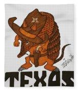 Armadillo Sheriff  Fleece Blanket