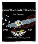 Armed Forces Desert Storm Fleece Blanket