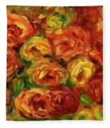 Armful Of Roses 1918 Fleece Blanket