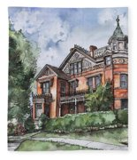 Armstrong Mansion Fleece Blanket