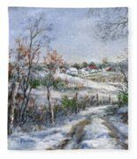 Around The Bend Sold Fleece Blanket