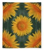 Around The Sunflower Fleece Blanket