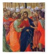 Arrest Of Christ Fragment 1311 Fleece Blanket