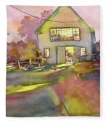Art Barn, Port Clyde Fleece Blanket