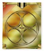 Art Deco Brass 3 Fleece Blanket