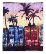Art Deco Miami Fleece Blanket