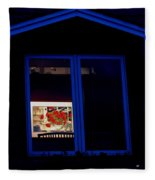 Art Gallery At Night Fleece Blanket