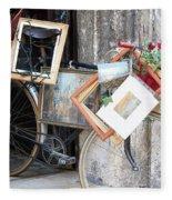 Art Gallery Bike Fleece Blanket