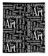 Art Idea Inspiration Fleece Blanket