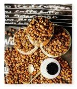 Art In Commercial Coffee Fleece Blanket