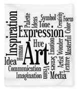 Art Inspiration Creativity Fleece Blanket