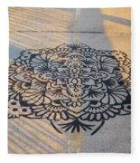 Art On Manhattan Bridge Fleece Blanket