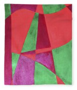 Art Painted In Abstract  Fleece Blanket