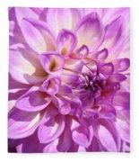 Art Prints Dahlia Flower Decorative Art Garden Baslee Fleece Blanket