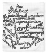 Art Word Cloud 1 Fleece Blanket