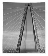 Arthur Ravenel Jr Bridge II Fleece Blanket