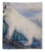 Artic Fox Fleece Blanket