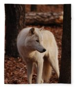 Artic Wolf Fleece Blanket