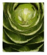 Artichoke Close-up Fleece Blanket