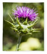 Artichoke Thistle 3 Fleece Blanket