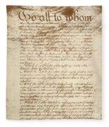 Articles Of Confederation Fleece Blanket