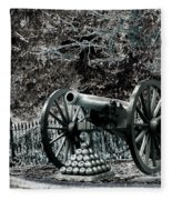 Artillery At Pickettes Charge Fleece Blanket