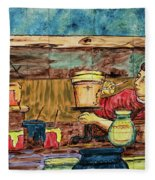 Artisan Market La Mariscal In Quito  Fleece Blanket