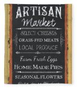 Artisan Market Sign Fleece Blanket