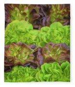 Artisinal Greens Madrid Spain Fleece Blanket