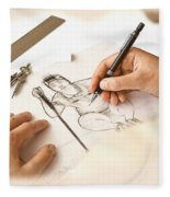 Artist At Work - So Yeon Ryu Part 1 Fleece Blanket
