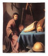 Artist In His Studio 1632 Fleece Blanket