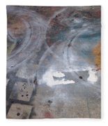 Artist Sidewalk 3 Fleece Blanket