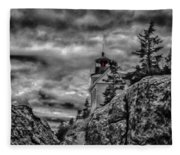 Artistic Bass Harbor Lighthouse In Acadia Fleece Blanket