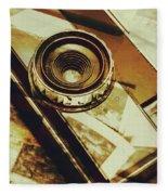Artistic Double Exposure Of A Vintage Photo Tour Fleece Blanket