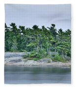 Artistic Granite And Trees  Fleece Blanket