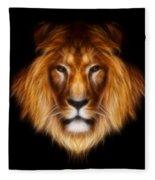 Artistic Lion Fleece Blanket