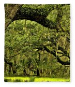 Artistic Live Oaks Fleece Blanket