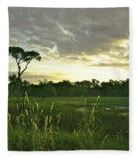 Artistic Lush Marsh Fleece Blanket