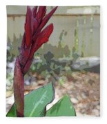 Artistic Red Canna Lily Fleece Blanket