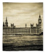 Artistic Vision Of Elizabeth Tower Big Ben And Westminster Fleece Blanket